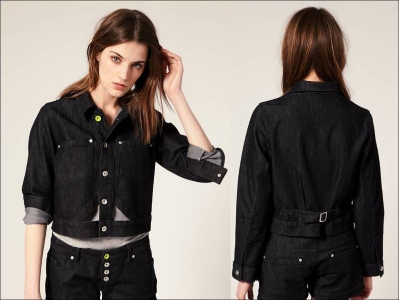 b1bda6823bdeb Girls Black Denim Jacket