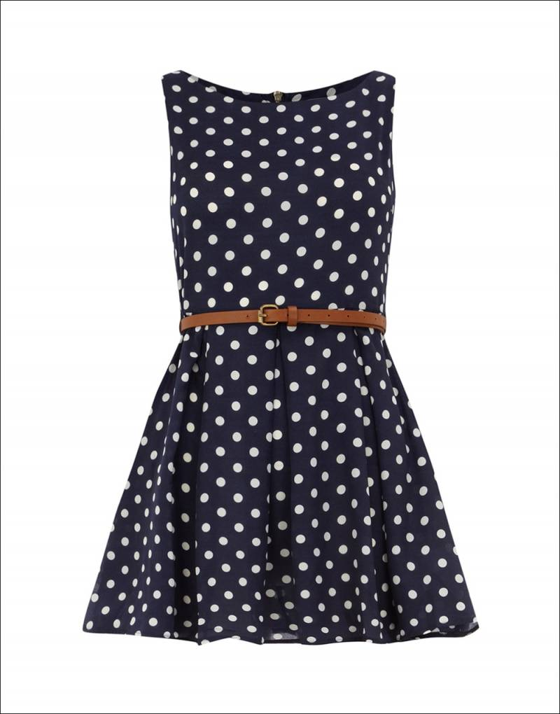 Navy blue polka dot dressesarm with warmth 1 ombrellifo Image collections