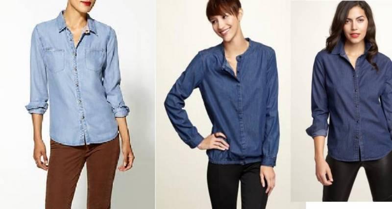 Denim Shirts Womens