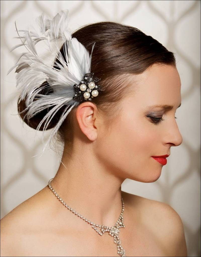 fascinating feathered hair accessories for brides!
