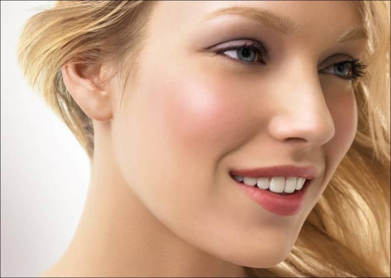 Hasil gambar untuk peach blush on look