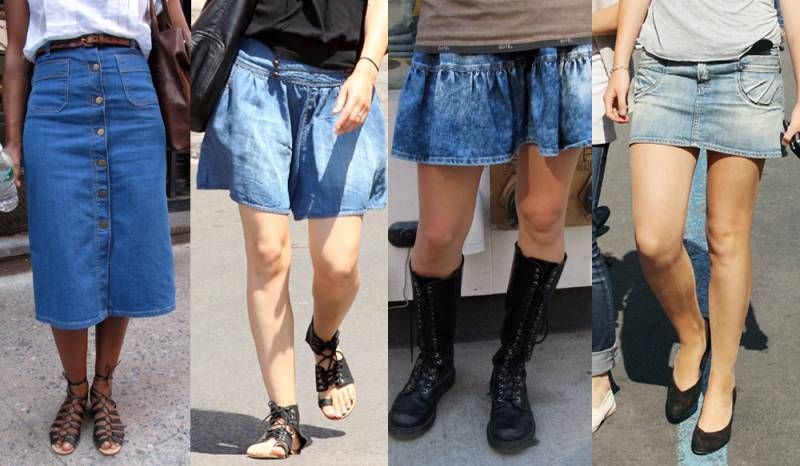 Stylish Denim Skirts - Dress Ala