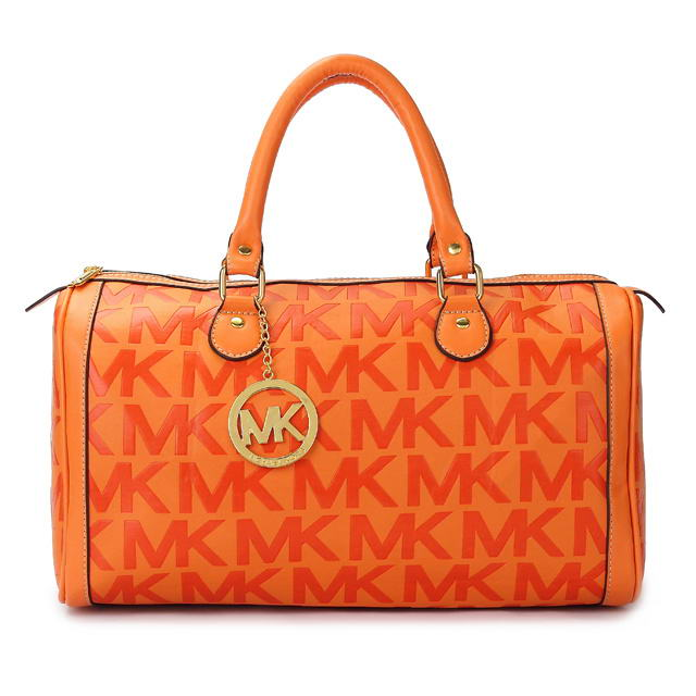 Michael-Kors-Grayson-Logo-Satchel-Orange-582505