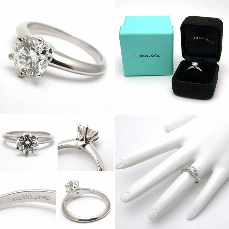 ... diamond. The ring comes in a classic blue Tiffany box and box paper
