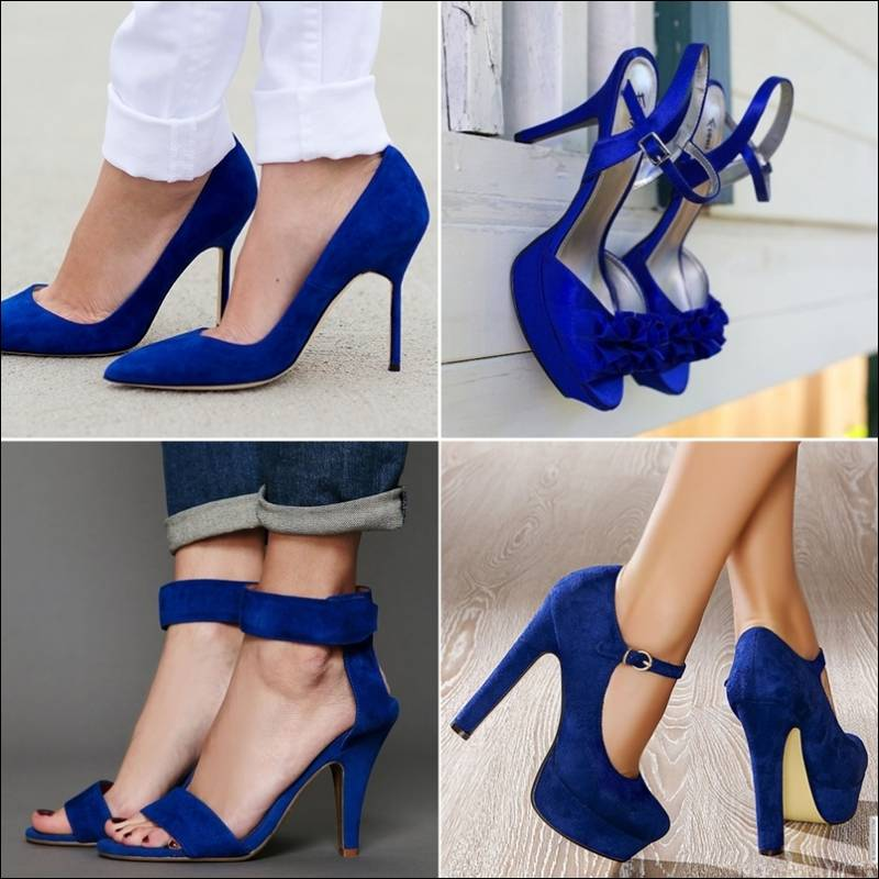 Neutral202x Suede T-Strap Pumps COBALT BLUE
