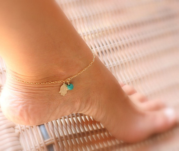 anklet turquoise boutique cool image large turtle chick products product