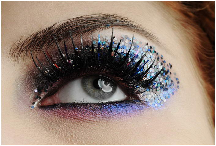 Who Will Try Glittery Eye Makeup