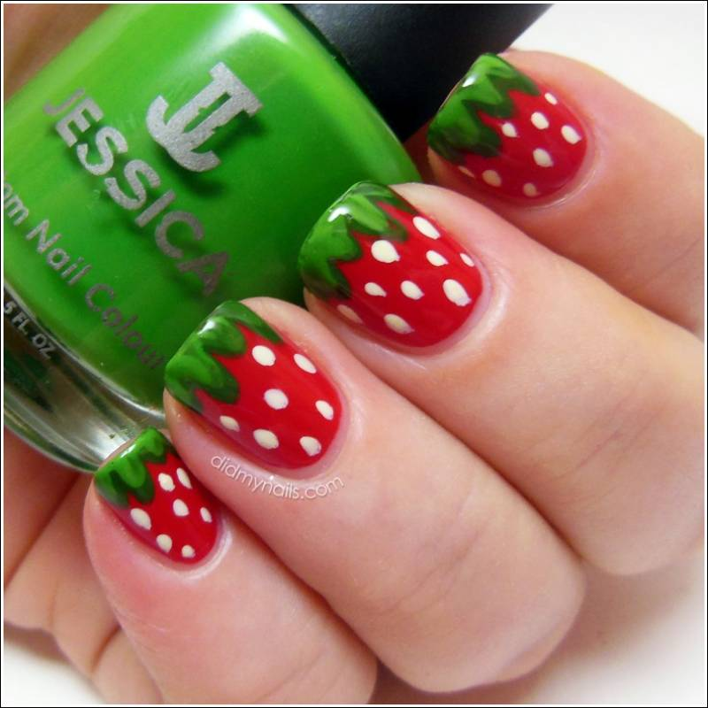 Who will design these cheerful fruity nails image source did my nails prinsesfo Images