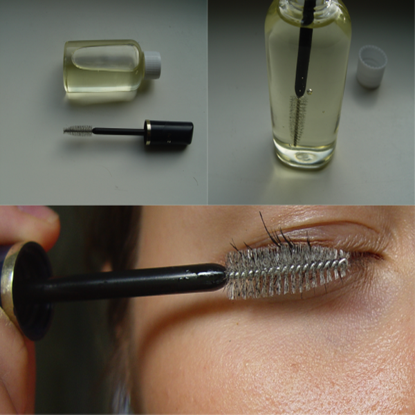 natural oils on eyelash
