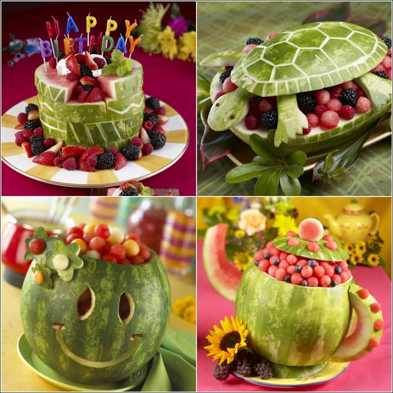 Time for some full on fun with watermelon carvings