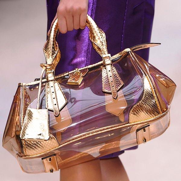 plain transparent bag