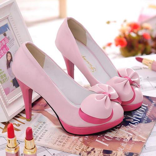 Cute Pink Heels - Qu Heel