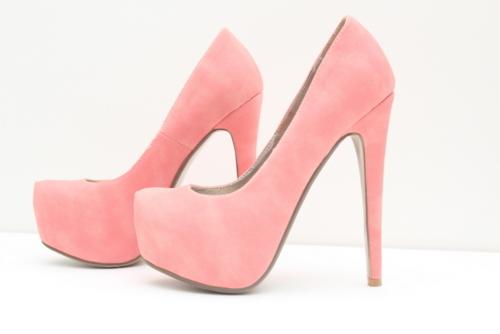 adorable pastel pink heels. Black Bedroom Furniture Sets. Home Design Ideas