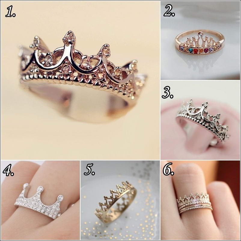 Turn a Princess by Wearing a Crown Ring!