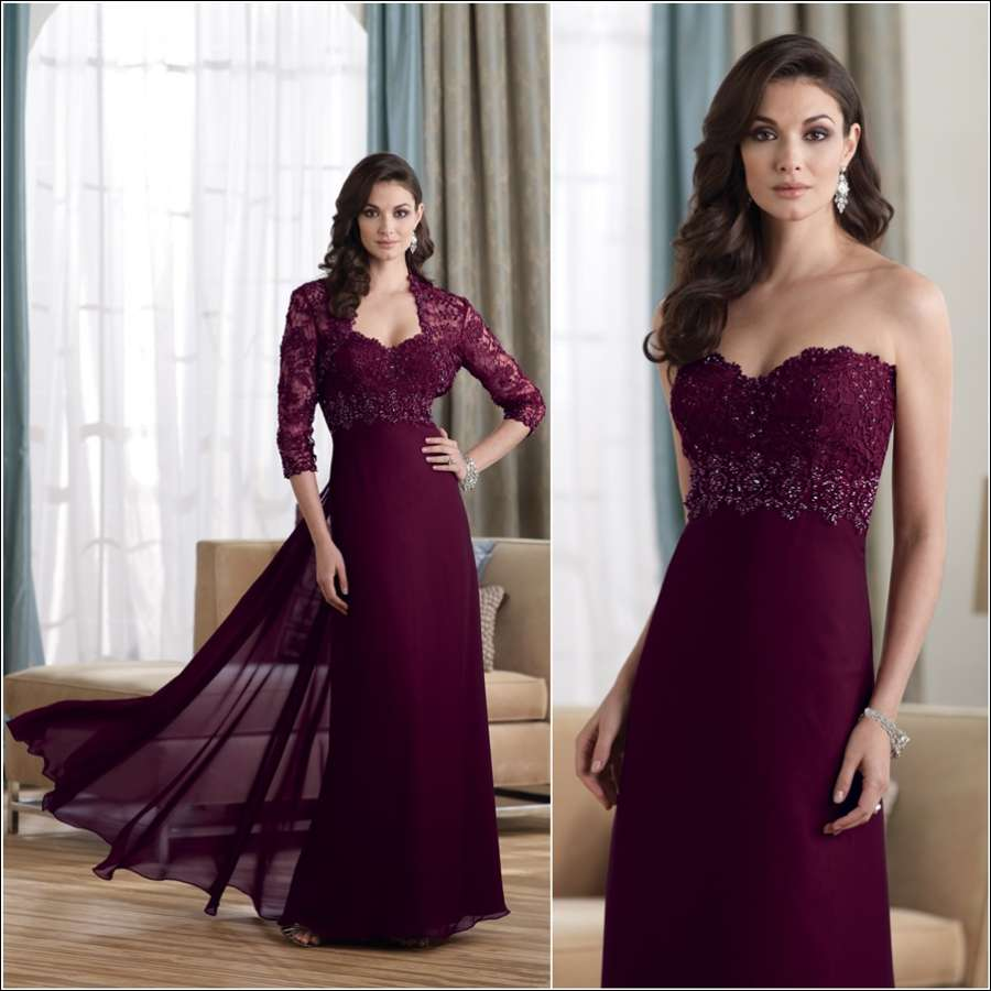 Stunning Plum Colored Dresses For You To Wear