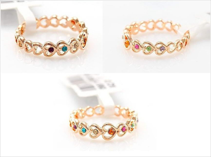 styles and fashion: Trendy Multi Color Rings for You to Wear!