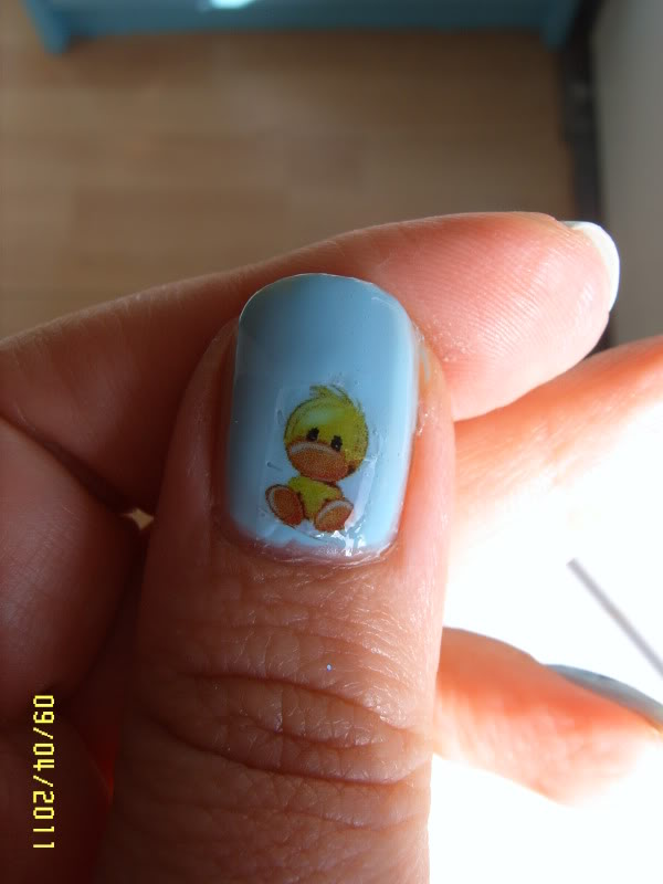 Nail Down Baby Shower Nail Art