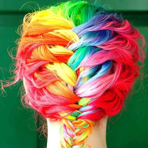rainbow haircolour