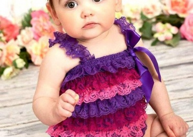 baby lace ruffle romper