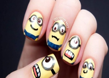 despicable me minions nail art