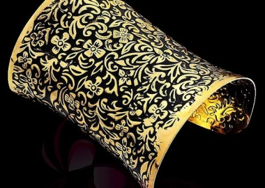 gold plated metal cuff