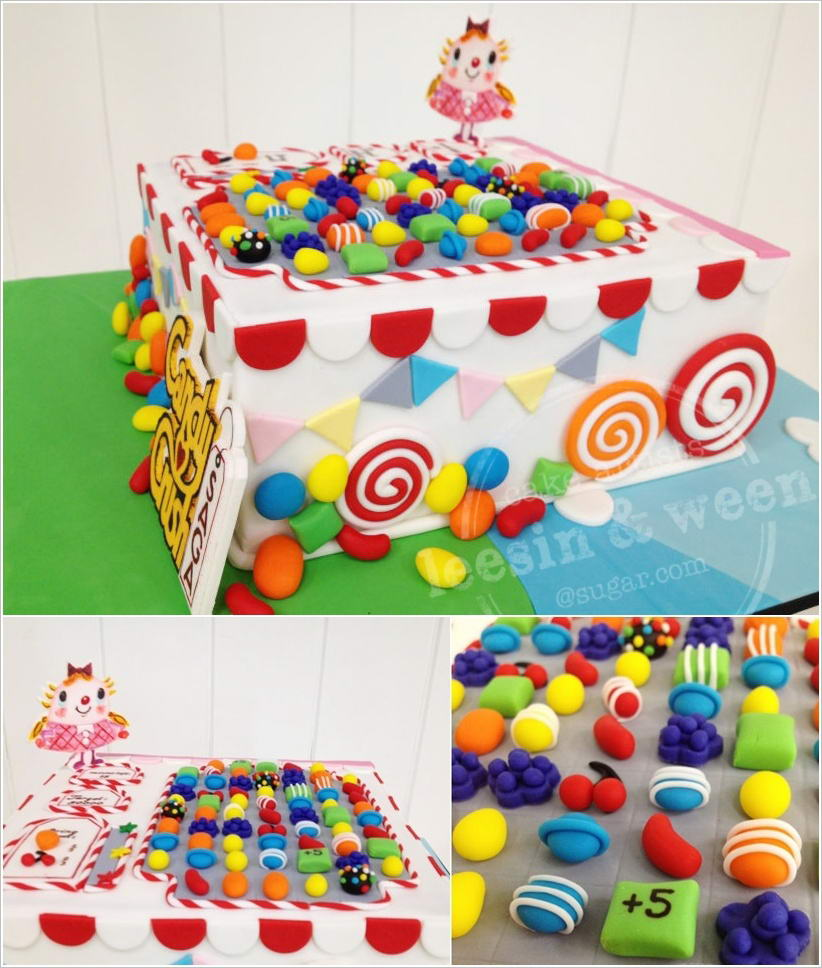 candy crush fondant cakes