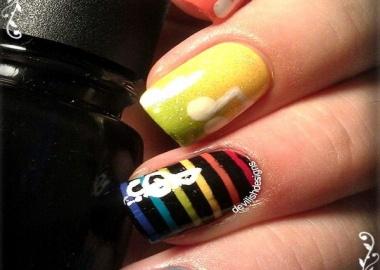 musical note nail art