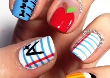 back to school nail art design