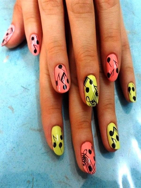 Musical notes on your nails musical note nail art prinsesfo Image collections
