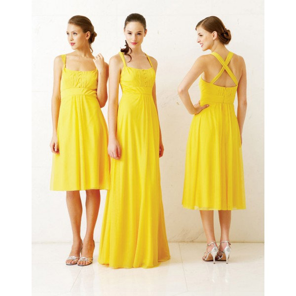 Bright Yellow Bridesmaids Dresses for the Big Day