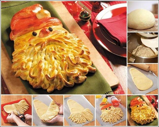 Time To Make Golden Santa Bread
