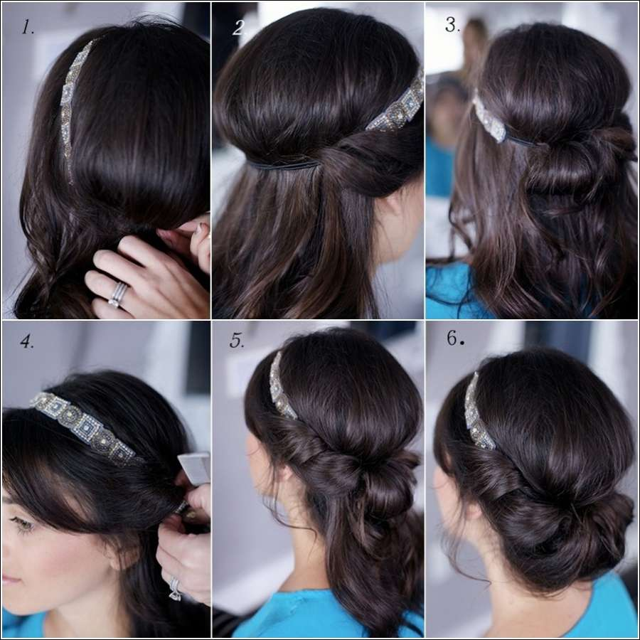 быстрая прическа на длинные волосы на праздник