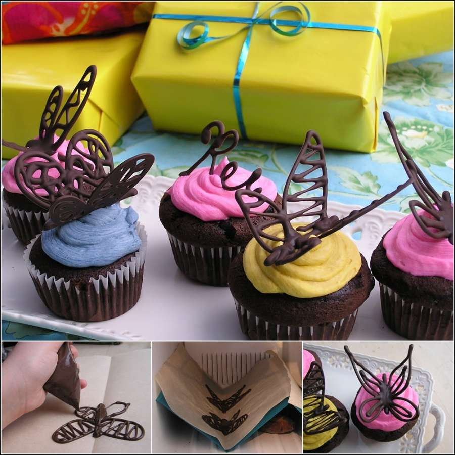 How about making chocolate butterflies to decorate your - How to decorate butterfly ...