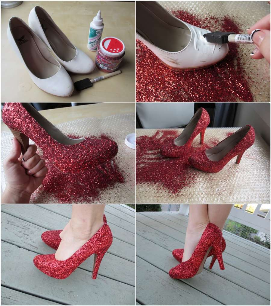 Diy Glitter Shoes For Wedding