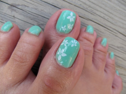 Simple toe nail art forms that you can create at home image source nail art design gallery prinsesfo Images