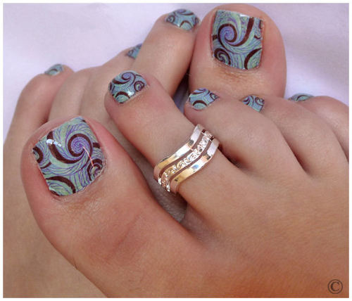 Simple toe nail art forms that you can create at home image source nail art design gallery prinsesfo Choice Image