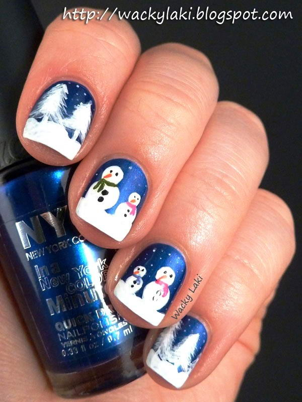 winter nail art idea