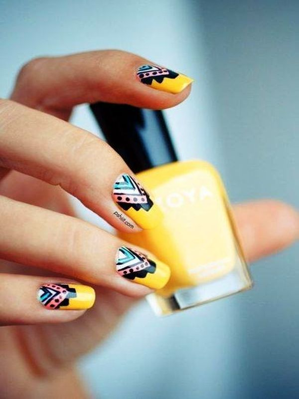 Gorgeous aztec nail art ideas aztec nail art prinsesfo Images