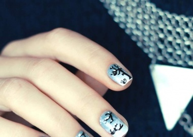 winter nail art idea