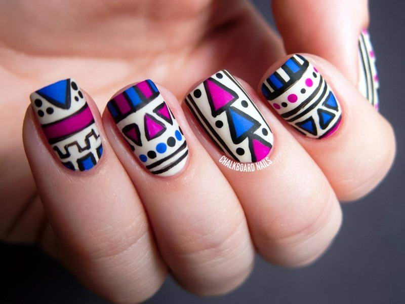 Gorgeous Aztec Nail Art Ideas