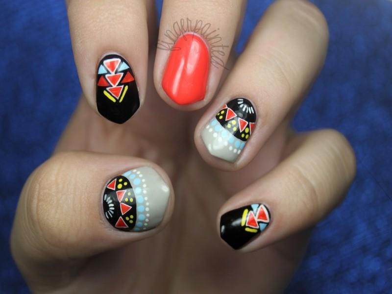 Gorgeous aztec nail art ideas aztec nail art prinsesfo Images