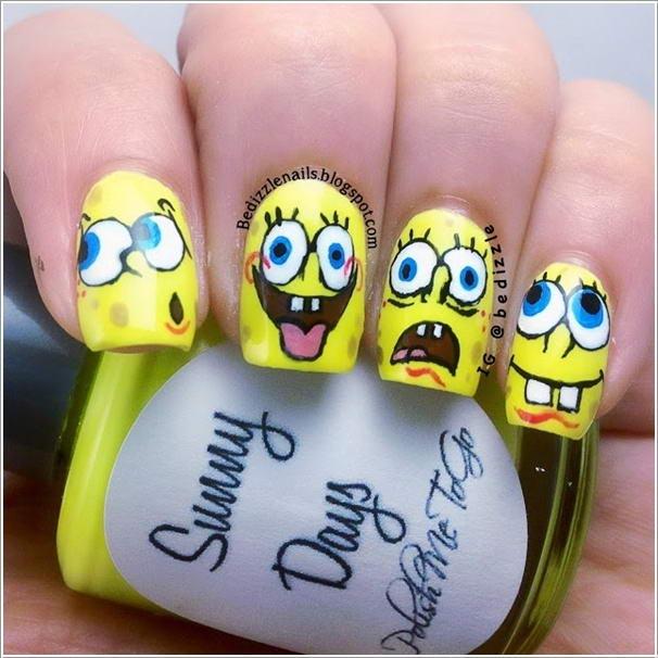 Nail Art Design Cartoon Character : Cool nail art designs for cartoon lovers