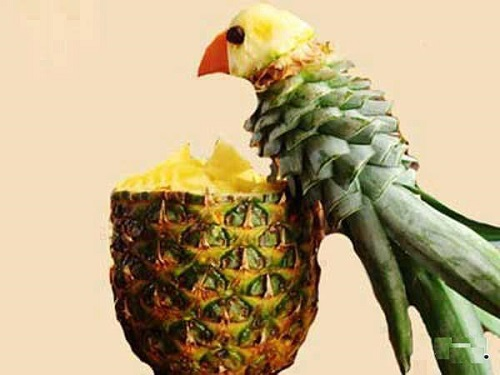 creative pineapple carving can be fun for all the family