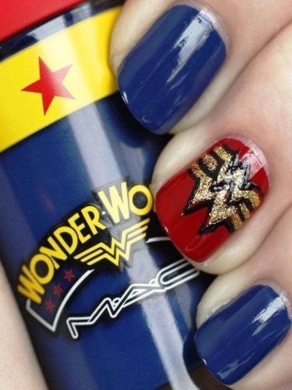 wonder women nail art
