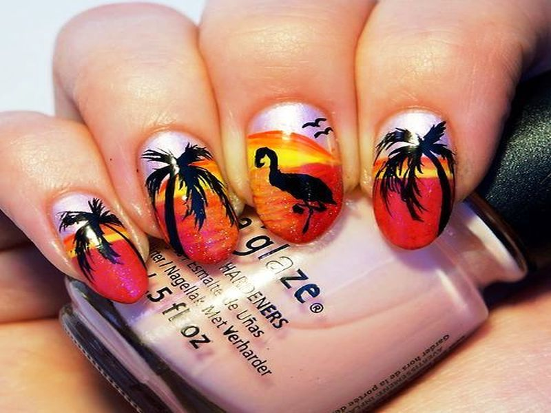 sunset nail art - Who Wants To Try These Scenic Sunset Nail Arts? - Sunset - Sunset Nail Art Graham Reid