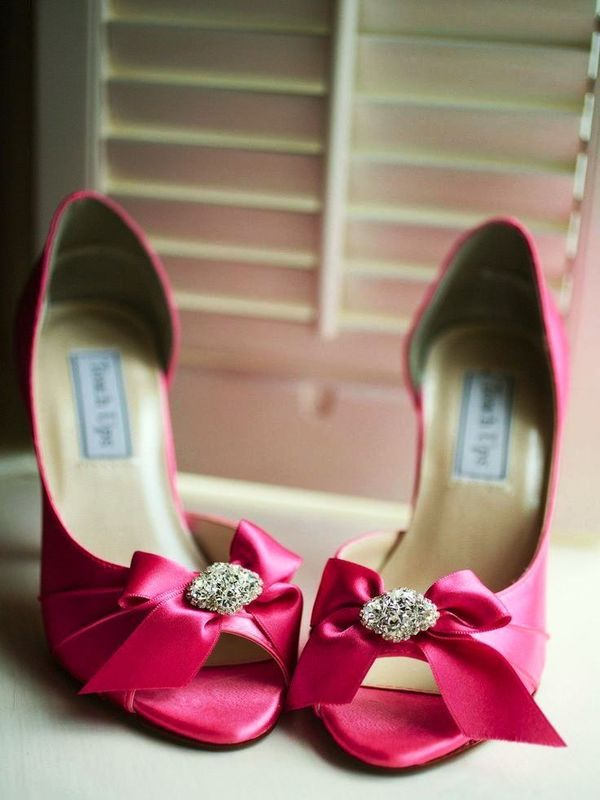 Who Wants These Hot Pink Wedding Shoes?