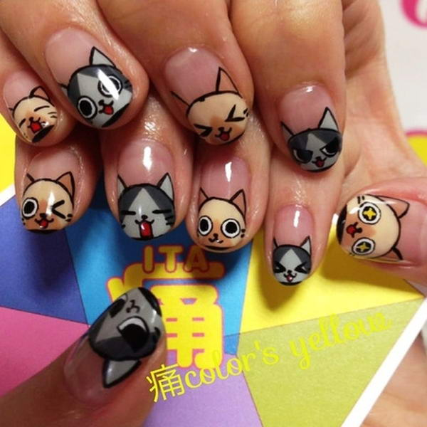 Who Would Like To Have These Cute Cat Nail Arts?
