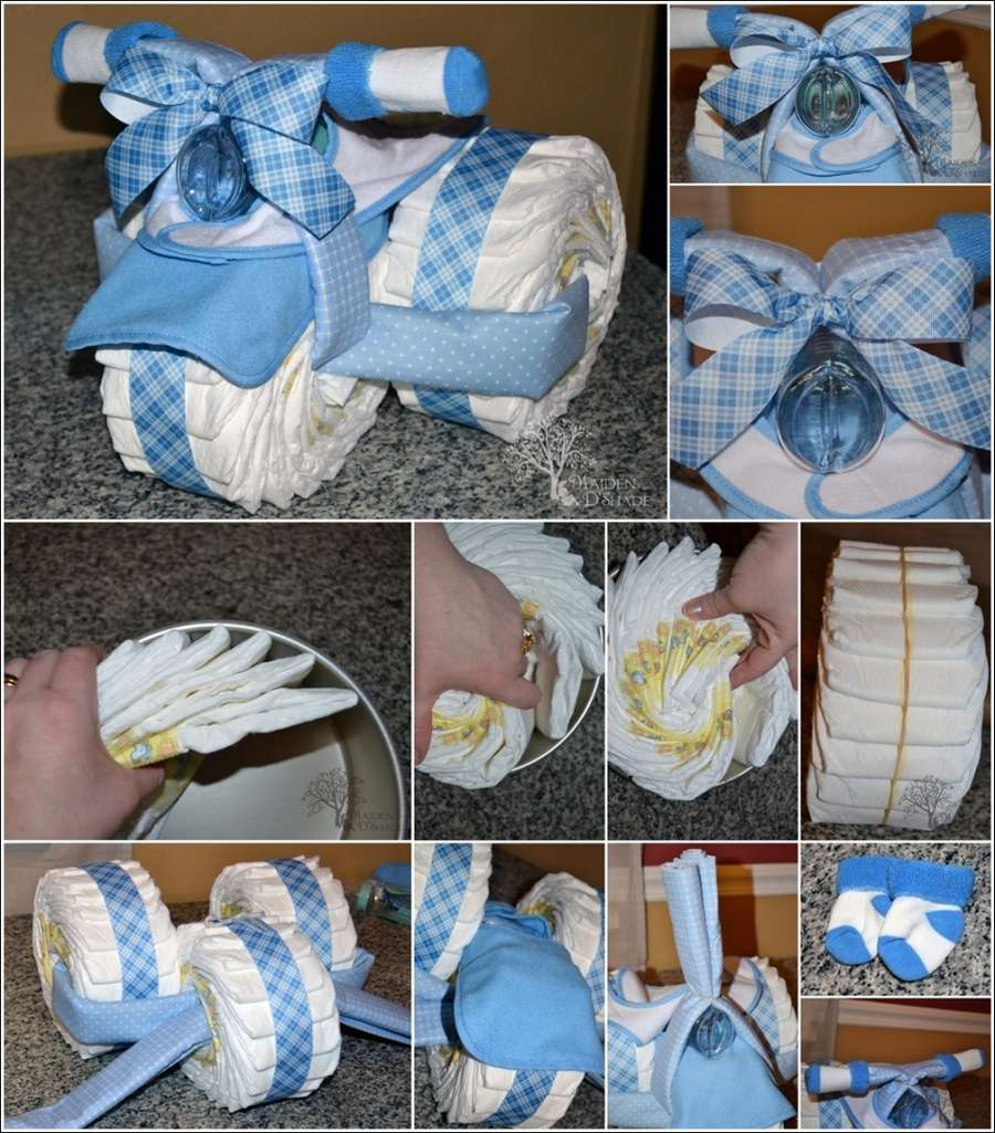 & Tricycle Diaper Cake as a Perfect Baby Shower Gift