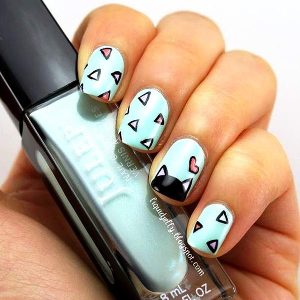 Who Would Like To Have These Cute Cat Nail Arts