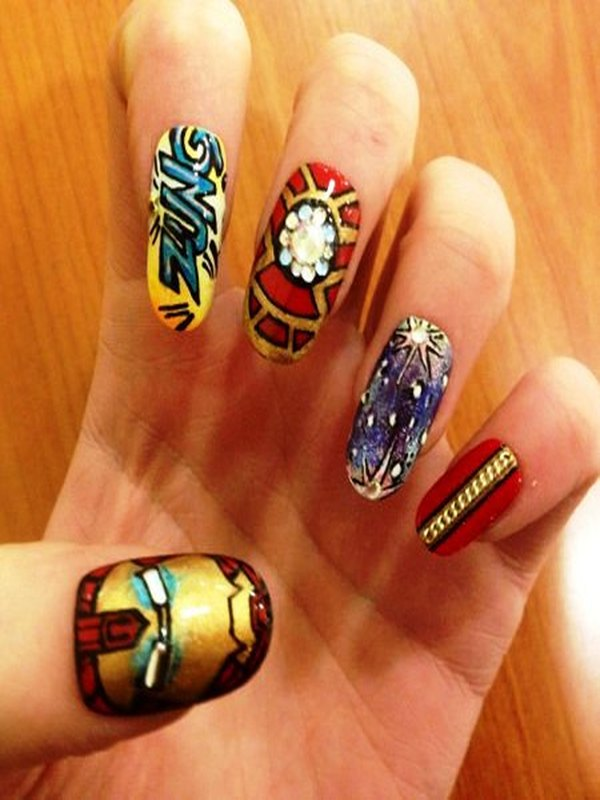 Who wants to get these superhero nail arts iron man nail art prinsesfo Gallery